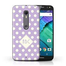 Personalised Custom Polka Dot Case Motorola Moto X Style/Violet/Initial Cover