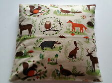 Owl Wildlife Cushion Cover - Forest Animals Deer - Rabbits Woodland Scene