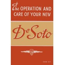 Factory Owners Manual for 1940 DeSoto