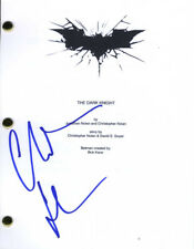 Christian Bale Autographed Signed The Dark Knight Script Cover Page AFTAL UACC R