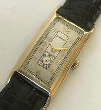 Antique 1940 14 Karat Gold Longines rectangle Swiss hand winding mens watch