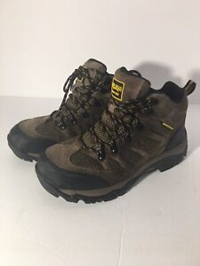 *Redhead Mens Hiking Waterproof Boots Brown Leather Mesh Mens 10 M Boots