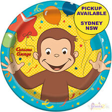 Curious George Birthday Party Supplies 8 Paper Large Lunch Plates