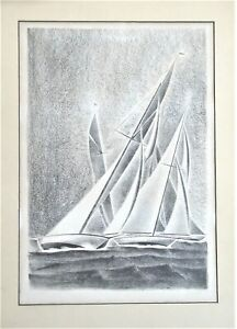 Arnold Ronnebeck Lithograph Yacht Races