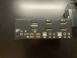 StarTech 2 Port Dual VGA USB KVM Switch with Audio & USB Hub
