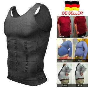 Herren Bauchweg Unterhemd Figurformende Miederbody Slim Kompression Shaper Weste