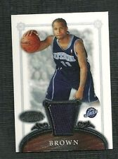 DEE BROWN 06-07 BOWMAN STERLING ROOKIE WORN JERSEY UTAH JAZZ