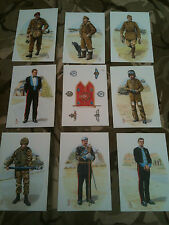 Set x 9 Military Postcards Army Air Corps by Alix Baker