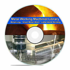 Machinist Lathe Metal Working Welding Foundry Blacksmith Metallurgy CD DVD V68