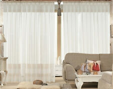 New 2 Sheer Voile Curtains 1090 cm wide 230cm long