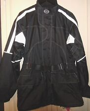 England BELSTAFF Black Waterproof Fitted Motorcycle Bike Jacket Coat Outerwear M