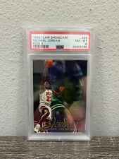 1996 Flair Showcase Michael Jordan #23 Row 2 PSA 8 NM-MT Chicago Bulls HOF