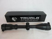 Truglo Maxus 3-9X 44mm XL eye relief Black Rifle Scope dual Reticle