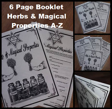 100 Witchcraft Herb & Properties Booklet Wicca Pagan Spell Magic BOOK OF SHADOWS