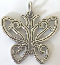 ❤️JAMES AVERY RETIRED LARGE OPEN BUTTERFLY PENDANT 🦋 SILVER OLD DESIGN JA BOX❤️