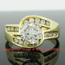 Genuine Solid 9ct Yellow Gold Engagement Wedding Esteem Rings Simulated Diamonds
