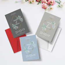 Personalised Wedding Order Of Service Cards | Luxury Folded A5 Program Booklets