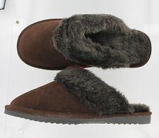 New Zealand Darby Mule Slipper Shoe - Brown Suede - Size 10