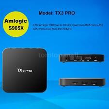 2017 1G+8G Amlogic S905X Tx3 Pro 4K Wifi Smart Tv Box Android 6.0 Quad Core T1N3