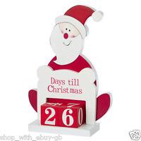 Wooden Advent Countdown Calendar Santa Days Till Til Christmas Decoration Elf