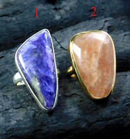 Natural Charoite Ring Solid 925 Sterling Silver Gemstone Handmade Jewelry MR1963