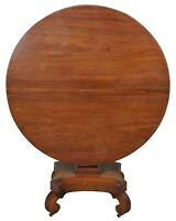 Early 19th Century Antique Regency Solid Mahogany Tilt Top Round Tea Table