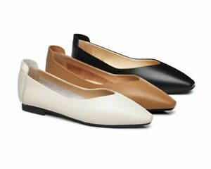 【EXTRA20%OFF】UGG Women Flats Everly Leather Pointed Toe Ballet Shoes