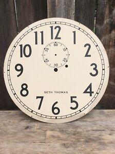 !970's Seth Thomas no.2 Wall Regulator Clock Dial