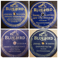 Charlie Barnet and His Orchestra Bluebird Albums Records 78 RPM Jazz - Lot of 4