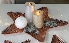 Casablanca Dekoschale Kerzenschale Stern Kupfer Dekostern 45 Metallschale 51919
