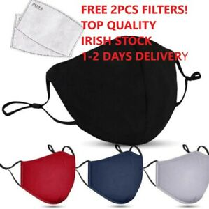 REUSABLE WASHABLE FACE MASK WITH FILTER ADJUSTABLE NOSE CLIP ANIFOGGY IE STOCK