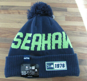 Seatlle Seahawks Bobble Hat Genuine NFL Merchandise NEW FREE DELIVERY