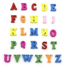 Wooden Coloured Letters 100 Pack Mixed Card Making Alphabet Childs Craft