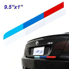 "9.5"" Tri-Color Stripe Sticker M-Colored Decal for BMW Bumper Trunk M Performance"