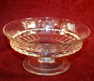 EAPG Footed Bowl - THREE FRUITS Pattern by Dalzell Bros. & Gilmore ca. 1885
