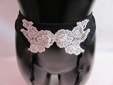 Cotton Club Suspender Belt Black With White Detail Size 34  Medium 7EM #23R246