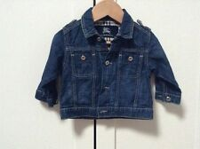 Baby Burberry Denim Jacket Age 9 Months 100% Genuine