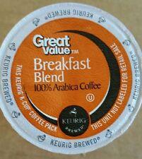 Great Value Breakfast Blend Medium Roast Coffee K Cups 100 count Bulk box