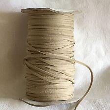 5 M di 3 mm In Finta Pelle Scamosciata Corda String Tanga in Beige #1023