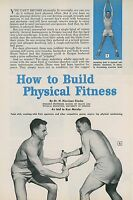 1958 How to Build Physical Fitness Exercise Training Workout Working Out Vintage