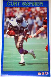 CURT WARNER Seattle Seahawks Vintage Original 1987 Starline NFL Action POSTER