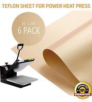 """6 Pack Teflon Sheet for Heat Press Transfer Non Stick 16"""" x 24"""" Craft Mat"""