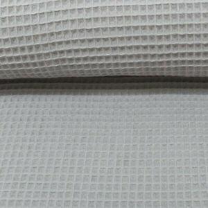 Waffelstoff - Waffelpique - Grau - Nelson