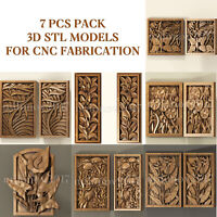 7 pcs set 3d stl models  for CNC Router Artcam Aspire