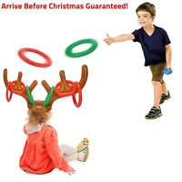 Antler Ring Toss Party Game Inflatable Reindeer Christmas HatXmas Toys Gift AUS