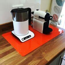 Rectangular Acrylic Worktop Saver - Orange