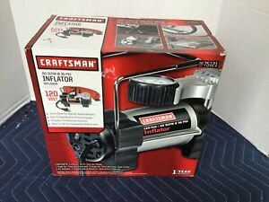 Sears Craftsman Portable Inflator 30 PSI 120 Volt in Original Box Complete