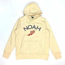 NEW Noah NY Men's Peach Winged Foot Core Logo Hoodie Sweatshirt M SS17 AUTHENTIC