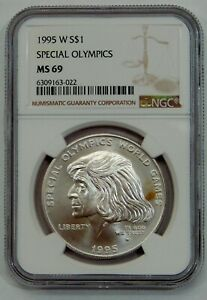 1995 W - Special Olympics Commemorative Silver Dollar - NGC MS 69