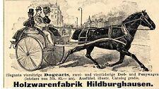 Holzwarenfabrik Hildburghausen DOGCARTS ESEL-&PONYWAGEN Historische Annonce 1902